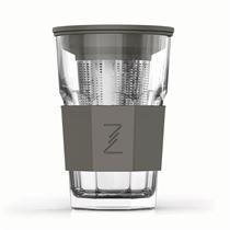 ZEST GLASS GRİ DEMLİK BARDAK