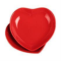 2 li Şeker Peker Kalp Yemek Tabağı
