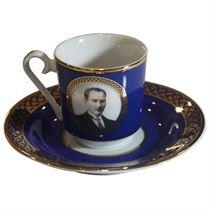 Kütahya Porselen Atatürk Lacivert Kahve Fincan Tak