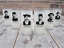 6 Lı İçelim Kabadayılar Rakı Bardağı Seti